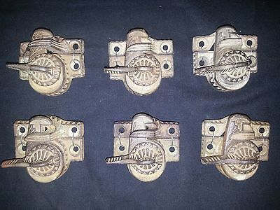 Eastlake Window Sash Locks and Closures Late 1800's Set of 6 Free shipping!