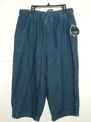 Karen Scott Womens Plus Denim Comfort Waist Capri Pants NWT Size 1X X 19 A11