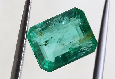 1.83 CT Octagon Cut Natural Emerald Loose Rich Green Color Gemstone AA+ No Heat