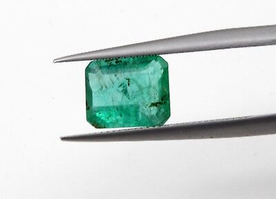 1.78 Ct Natural Emerald Loose Octagon Cut Green Color Zambian No Heat Gemstone