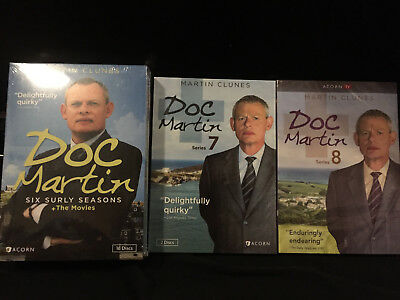 Doc Martin: The Complete Series 1-8 + Movies  NEW & FAST SHIPPING