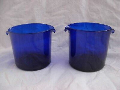 PAIR OF ANTIQUE FRENCH BLUE COBALT CRYSTAL COOLER,19th CENTURY.