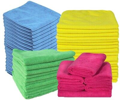 10 Pack Microfibre Cleaning Cloths Microfiber Dusters Machine Washable 37x37cm