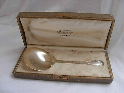 ANTIQUE FRENCH STERLING SILVER STRAWBERRY SERVING SPOON,LOUIS 16 STYLE,LATE 19th