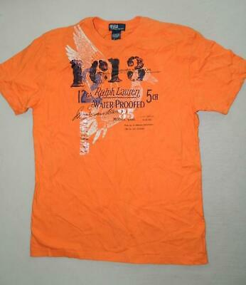 Polo Ralph Lauren Boys Orange Short Sleeve Crew Neck Shirt NWT Size L (16-18) B1