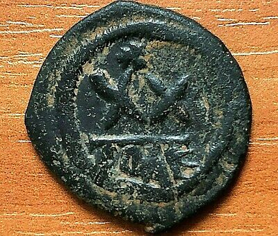 "Phocas 602-610AD AE Half-Follis Large ""XX"" Constantinople Ancient Byzantine Coin"