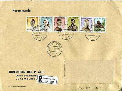 1967 Luxembourg Welfare Funds set registered cover. Royal Childen & Residences