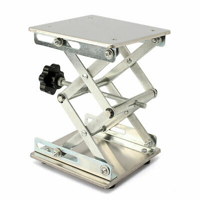 "Lab Lifting Stand Lift Platform Scissor Steel Stainless Lifter 5.9 x 5.9"" Riser"