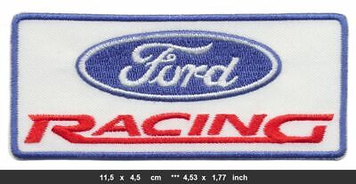 FORD RACING Aufnäher Patches Bügelbild Auto cars Motorsport Mustang Taurus white