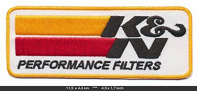 KN Air Filters Aufnäher Aufbügler Patches Auto Tuning Luftfilter V8 TURBOVERSAND