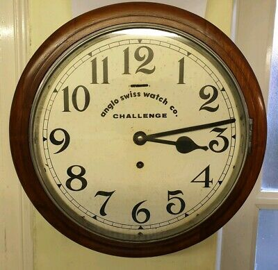Vintage 8 Day Circular Office Wall Clock, Ideal for Kitchen or Dining Room