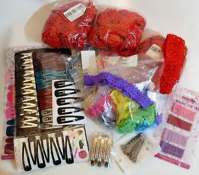 Job Lot Hair Accessories Headbands Clips Pins Barrettes Grips Crafts Sewing #2