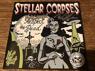 Signed STELLAR CORPSES Respect The Dead Cover & Welcome To The Nightmare CD