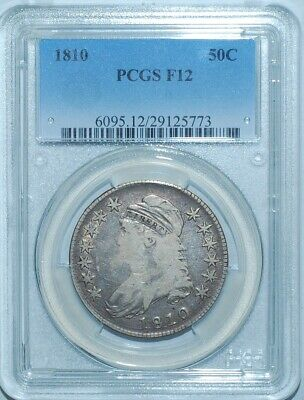 1810 PCGS F12 Capped Bust Half Dollar