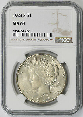 1923-S Peace Dollar $1 MS 63 NGC