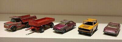 JOB LOT OF 5 x MATCHBOX VINTAGE DIE CAST VEHICLES FROM THE 1960s AND EARLY 1970s