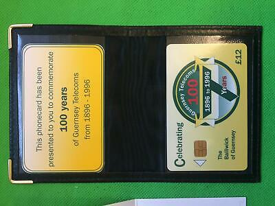 Guernsey Telecom phonecards presentation pack 1996 100 years