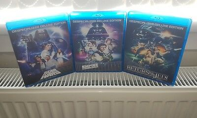 Original Star Wars Despecialized Trilogy. Deluxe Edition Blu Ray + Documentaries