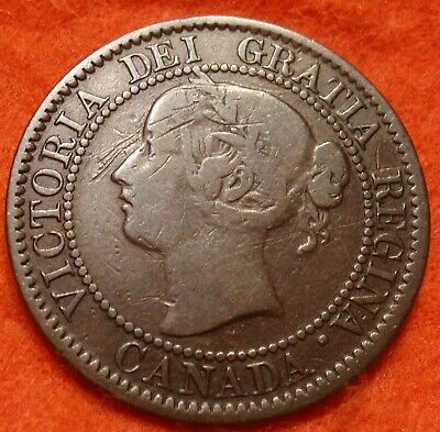 1859 F High Grade CANADA LARGE CENT Victoria COIN CANADIAN