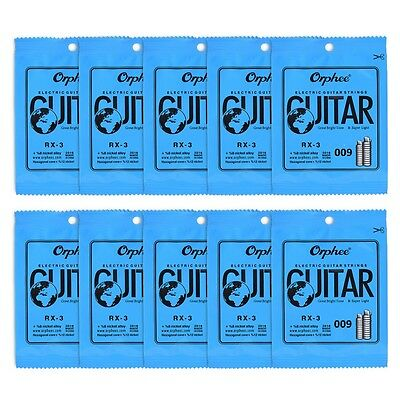 10pcs Orphee RX-1 First E 1-st Steel Electric Guitar Strings .009 inch / 0.23 mm