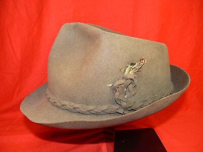 VINTAGE Hays BATTERSBY LONDON Men's Short Brim Fedora FELT HAT c.1930s -1940s GC