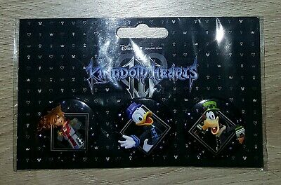 #RARE# 3 Badges Kingdom Hearts 3 Collector Neuf Emballé (Disney Square Enix)