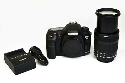 Canon EOS 7D Mark II 20.2MP DSLR Camera w/ EFS 18-135mm Lens & Charger