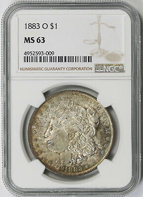 1883-O Morgan Dollar Silver $1 MS 63 NGC Toned