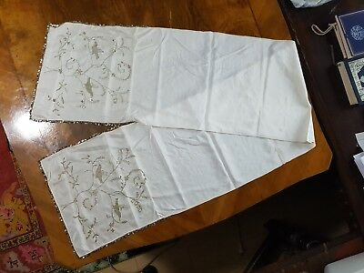 antique ottoman embriodered,WITH SARMA.SILK SCARF HANDMADE.MISURE 190 x 37 Cm.