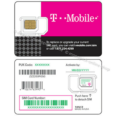 T-Mobile USA Canada Mexico Unlimited Data Only Pay As You Go PAYG Prepaid SIM