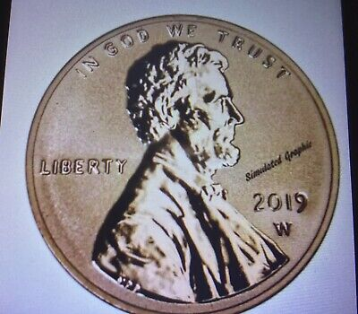 2019 W Reverse Proof Lincoln Cent Gem Deep Cameo; Second Coin In Set PRESALE