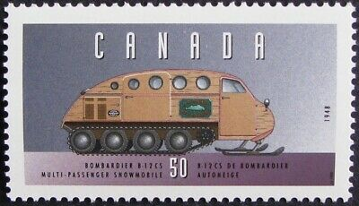 "1995 Canada #1552c MNH, Hist. Land Vehicles ""#3"" - Bombardier B-12 Snowmobile"