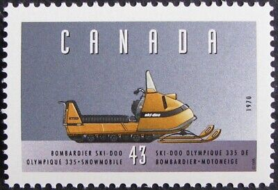 "1995 Canada #1552b MNH, Historic Land Vehicles ""#3"" - Bombardier Snowmobile"