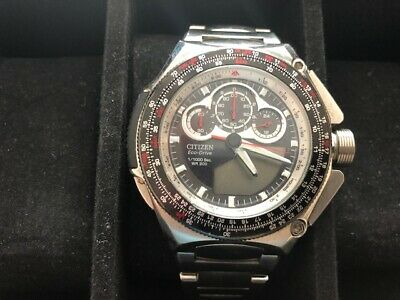 Citizen Eco Drive ProMaster SST Mens Stainless Steel Wrist Watch WR 200