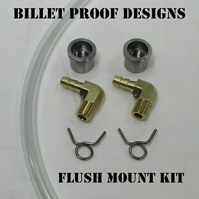 Motorcycle CLEAR Fuel Hose FLUSH Gas Gauge Sight Window BRASS Custom MADE IN USA