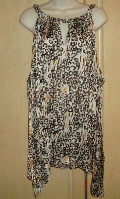 Women's  Plus Size Blouse Top Shirt Size  26/28W  Cato  Multicolored Sleeveless