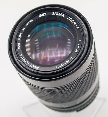 Sigma Compact 70-210mm F4.5-5.6 Nikon AI-s Mount Zoom Lens For SLR Cameras