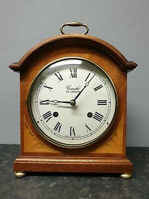 Vintage Comitti Bow Top 8 Day Mantle Clock with Bell Strike