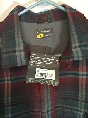 Eddie Bauer Expedition Flannel Shirt Mens Large Tall style 0668