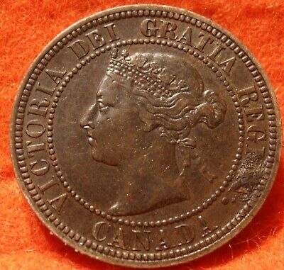 1891 XF High Grade CANADA LARGE CENT Victoria COIN CANADIAN