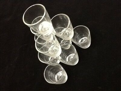 10 TEN Shot Glasses Glass 1 oz  Shots Whiskey Tequila Aguardiente Diez Vodka