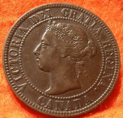 1899 XF High Grade CANADA LARGE CENT Victoria COIN CANADIAN