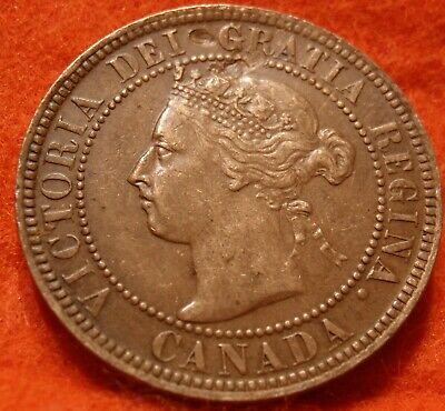 1901 XF High Grade CANADA LARGE CENT Victoria COIN CANADIAN