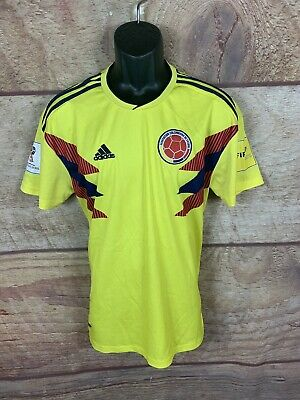7362f092ae79a $70 ADIDAS COLOMBIA World Cup Home Jersey Youth Sz LARGE Yellow ...