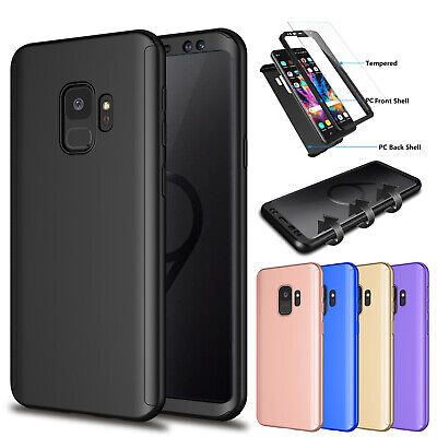 Samsung Galaxy 360° Full Protective Case Cover w/Tempered Glass Screen Protector