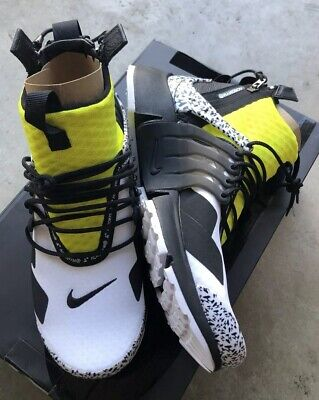 best website 0c94d b7976 Nike Air Presto Mid Acronym White Black Dynamic Yellow Sz 12 NIB AH7832-100