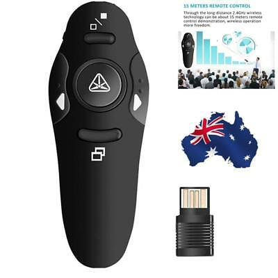 AU 2.4GHz Wireless PowerPoint PPT Presenter Remote Control USB Mouse Clicker Pen