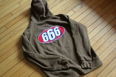 5b11ef26 SUPREME 666 ZIP Up Sweat Hoodie XL Brown SS17 Rare Sold Out Box Logo ...