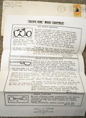 PRYNCE WHEELER ESCAPES, 2 pg Mailer - Flyer Dated Apr  30, 1967, Great  Falls, MT