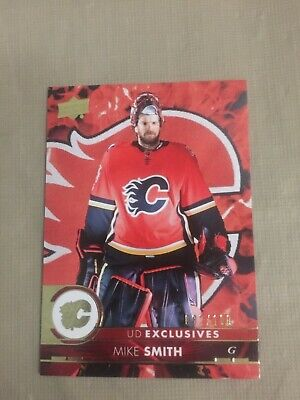 2017-18 Upper Deck SERIES 2 Mike Smith UD EXCLUSIVES Insert 82/100 Calgary